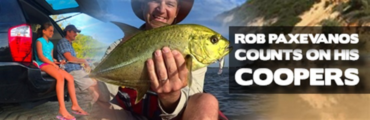 Rob Paxevanos counts on his Coopers for work and play- Fishing Australia T.V